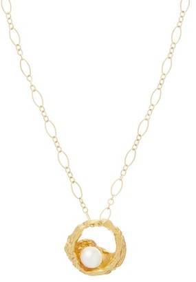 Alighieri Pearl Hoop 24kt Gold-plated Necklace - Gold