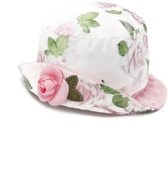MonnaLisa Floral-Print Embellished Hat