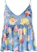 Semi-Couture Flared Floral-Print Top