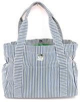 Infant Girl's Bella Tunno Stripe Canvas Diaper Bag - Blue