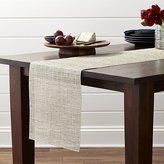 "Crate & Barrel Chilewich ® Crepe Neutral 72"" Table Runner"