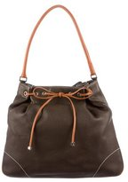 Lambertson Truex Leather Drawstring Bucket Bag
