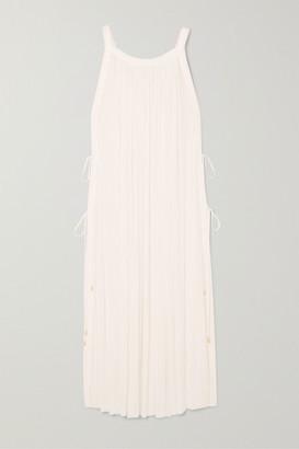 Elena Makri - Calliope Gathered Silk-tulle Midi Dress - White
