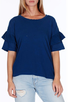 Current/Elliott Current Elliott Ruffle Sleeve Tee