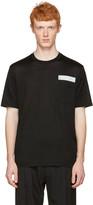 Lanvin Black Reflective Band T-Shirt
