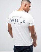 Jack Wills T-Shirt With Wills Print In White
