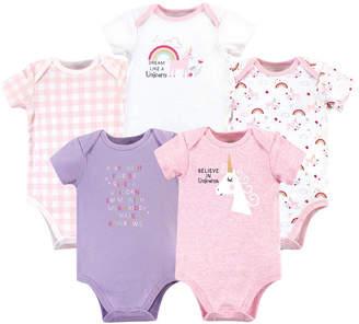 Luvable Friends Baby Girl Bodysuit 5-Pack