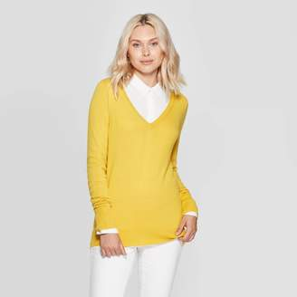 A New Day Women's Ribbed Cuff V-Neck Puover Sweater