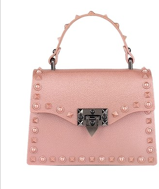 Delayne Dixon Rebel Rich Bag Rose Gold Studded Vegan Leather