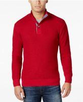 Weatherproof Vintage Men's Mock Turtleneck Button Sweater, Classic Fit