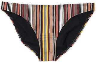 Tory Burch Striped Hipster Bikini Bottoms