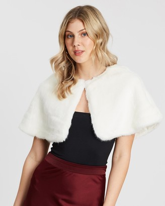 Unreal Fur Women's White Capes - Love Me Tender Capelet - Size One Size, One size at The Iconic