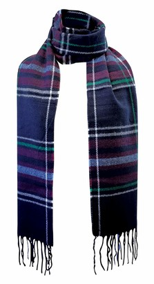 Sock Snob Ladies/Womens Thick Knitted Checked Tartan Fashion Warm Winter Scarf (One Size