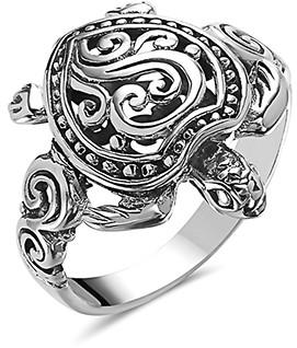 Sevil 925 Women's Rings - Sterling Silver Turtle Ring