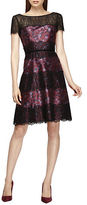 Kay Unger Floral and Lace Dress