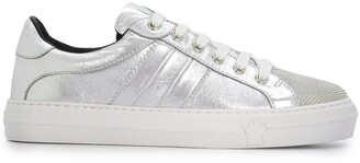Moncler Metallic Low-Top Sneakers