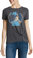Fifth Sun Star Wars Graphic T-Shirt with Knot- Juniors