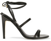 Tibi Amber Lace-Up Leather Sandals