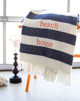 The Well Appointed House Candy Stripe Fringed Throw-Available in a Variety of Colors-Can be Personalized