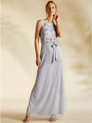 M&Co Sleeveless beaded maxi dress