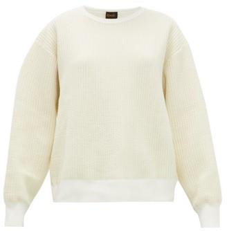 Chimala Puckered Cotton-blend Jersey Sweatshirt - Womens - Ivory