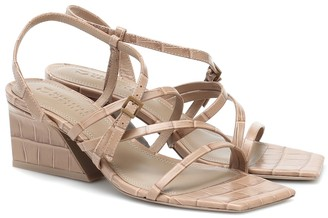 Mercedes Castillo Kelise croc-effect leather sandals
