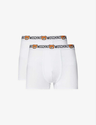 Moschino Bear-print stretch-cotton trunks pack of two