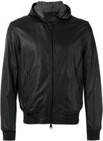 Armani Jeans hooded jacket - men - Cotton/Polyester/Polyurethane/Viscose - 46