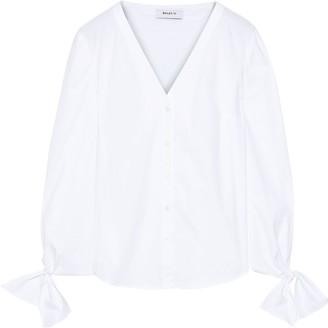 Bailey 44 Showdown Tie-detailed Cotton-blend Poplin Shirt
