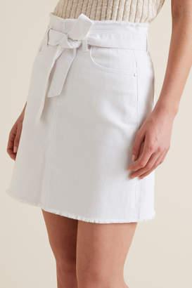Seed Heritage Belted Denim Skirt
