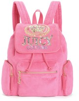 Juicy Couture Outlet - JUICY CROWN CREST VELOUR BACKPACK
