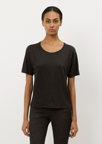 Acne Studios black nairobi linen top