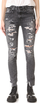 R 13 Jenny Mid Rise Skinny Jeans