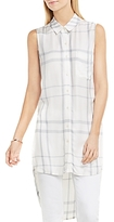 Vince Camuto Plaid Button Down Tunic
