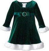 Bonnie Jean Little Girls' Toddler Velvet Santa Dress