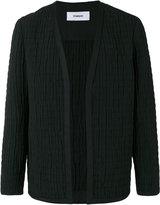Chalayan collarless jacket - unisex - Cotton/Polyester/Cupro - 46