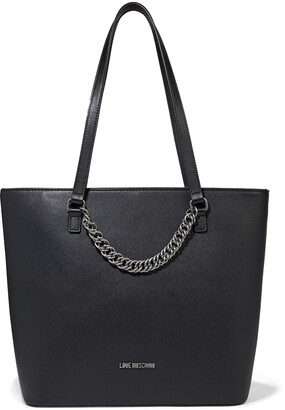 Love Moschino Chain-embellished Faux Leather Tote