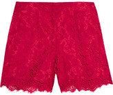 Dolce & Gabbana Guipure Lace Shorts - Red