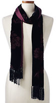 Classic Women's Double Faced Velvet Scarf-Burgundy