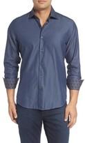 Stone Rose Men's Slim Fit Diamond Jacquard Sport Shirt