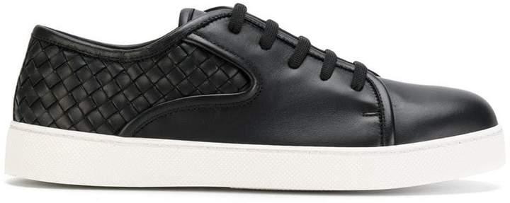 Bottega Veneta nero Intrecciato nappa dodger sneaker