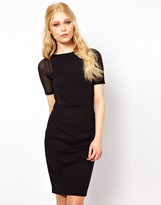 River Island Body-Conscious Dress With Mesh Sleeve