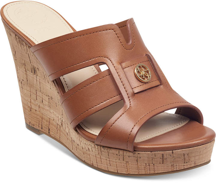 bef9d32bd7 GUESS Brown Women's Sandals - ShopStyle