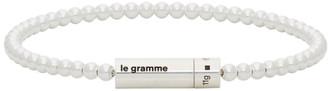 Le Gramme Silver Polished Le 11 Grammes Beads Bracelet