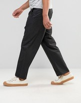 Asos Wide Leg Pinstripe Smart Pants