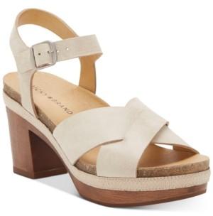Lucky Brand Women's Hariva Wooden Platform Sandals Women's Shoes
