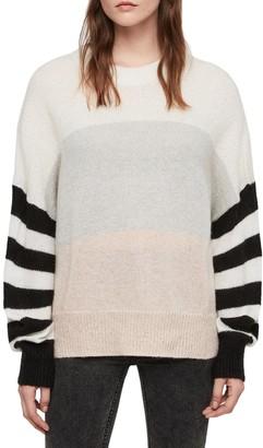 AllSaints Nicoli Striped Dolman Sweater
