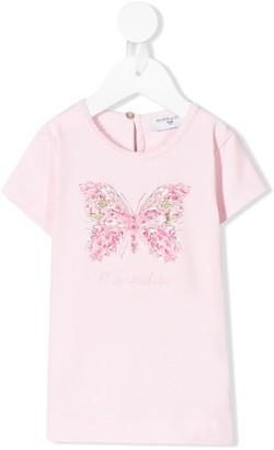MonnaLisa butterfly print T-shirt