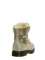 Suede Boots With Rhinestones