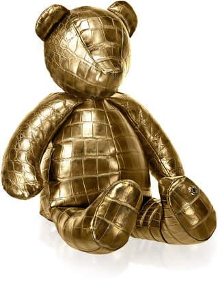 Stalvey 24K Gold Crocodile Teddy Bear